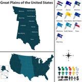 Große Ebenen der Vereinigten Staaten Stockfotos