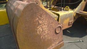 Große Eimer für Hafenlader Dreglayner, hydraulisch und Kabel stockfotografie