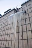 Große Eiszapfen Lizenzfreie Stockfotografie