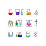 Große entworfene Chemievektoren Lizenzfreie Stockbilder
