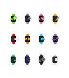 Große entworfene intelligente Uhrvektoren Lizenzfreies Stockfoto