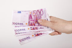 Euro in einem Umschlag Lizenzfreies Stockfoto