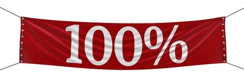 Große Fahne 100% (Beschneidungspfad eingeschlossen) Vektor Abbildung