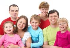 Große Familie Stockbilder
