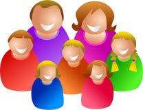 Große Familie Lizenzfreies Stockfoto