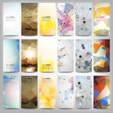 Große farbige abstrakte Fahnen eingestellt Begrifflich lizenzfreies stockfoto