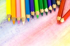 Große farbige Bleistiftnahaufnahme Lizenzfreie Stockfotos