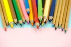 Große farbige Bleistiftnahaufnahme Stockfoto