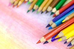 Große farbige Bleistiftnahaufnahme Lizenzfreies Stockbild