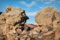 Große Felsen in der Wüste, USA Lizenzfreie Stockbilder