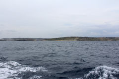 Große Felsen und Mittelmeer, Gozo, Republik Malta Lizenzfreies Stockfoto
