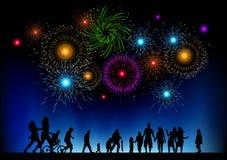 Große Feuerwerk-Party Lizenzfreie Stockfotos