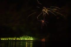 Feuerwerke in arles Stadt Lizenzfreie Stockfotografie