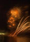 Feuerwerke in arles Stadt Stockbild