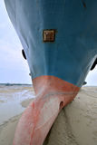 Große Fischerboote auf Sand Lizenzfreies Stockbild