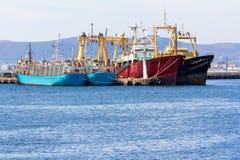 Große Fischereifahrzeuge Stockfotografie