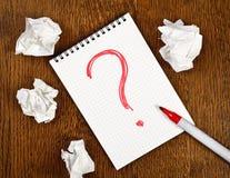 Große Frage Lizenzfreies Stockbild