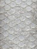 Große freie Luftblasen auf Bubblewrap Verpackungsmaterial Lizenzfreies Stockfoto