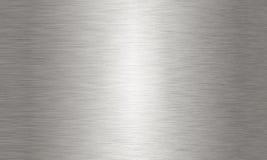 Große gebürstete Aluminiumhintergrundbeschaffenheit Lizenzfreie Stockfotos