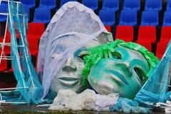 Große gefälschte Masken für die Show öffnen Breitensportfestival Lizenzfreie Stockfotos