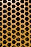 Große gelbe Lochmustervertikale Stockbild