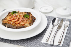 Große Geschmack Meeresfrüchte Fried Rice Lizenzfreie Stockfotografie