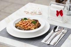 Große Geschmack Meeresfrüchte Fried Rice 6 Lizenzfreies Stockfoto