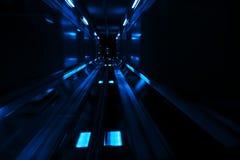 Große Geschwindigkeit innen unterirdisch stockfotografie