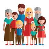 Große glückliche Familie Lizenzfreie Stockfotografie
