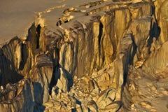 Große Gletscherspalte stockfotos