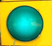 Große grüne Leuchte Stockbild
