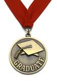 Große graduierte Medaille Stockfotografie