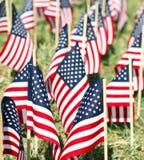Große Gruppe amerikanische Flaggen - Vertikale Lizenzfreies Stockfoto