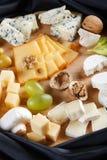 Große Gruppe Käse Lizenzfreies Stockfoto