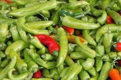 Große Gruppe Pepperonis lizenzfreie stockbilder