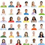 Große Gruppe verschiedene Leute stockbilder