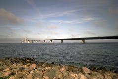 Große Gurt-Brücke Stockbilder
