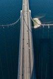 Große Gurt-Brücke in Dänemark Stockfotografie