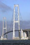 Große Gurt-Brücken-Nahaufnahme Stockbilder