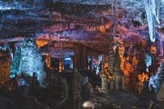 Große Höhle in Israel Lizenzfreies Stockfoto