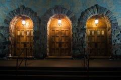 Große hölzerne Türen Lizenzfreies Stockbild