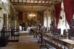 Große Halle des Chillingham Schlosses Stockbilder