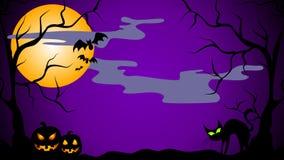 Große Halloween-Nachtszene Stockfotografie