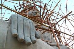 Große Hand großer Buddha Stockfotografie