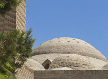 Große Haube von Toki Zargaron in Bukhara - Usbekistan Zentralasien lizenzfreies stockbild