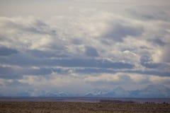 Große Himmel in ländlichem Alberta stockfoto