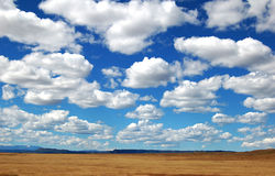Große Himmel-Wolken Stockfoto