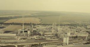Große industrielle Fabrik stock video footage