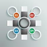 Große Informationsgraphik in den Schwarzweiss-Farben, warme Farben, mit Zahlen Lizenzfreies Stockfoto