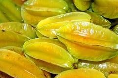 Große Insel-frische Stern-Frucht Lizenzfreies Stockfoto